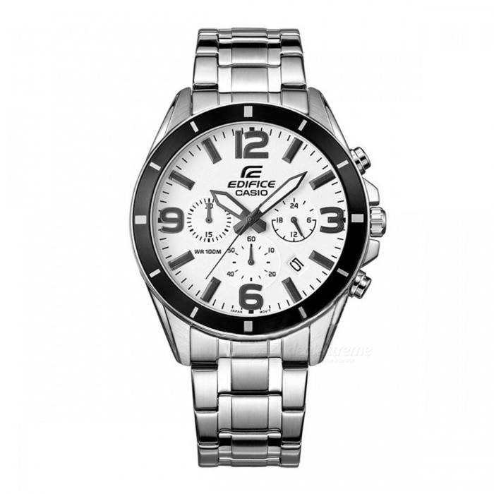 ede8ecadc62 Casio Edifice EFR-553D-7B Stainless Steel 100m Men s Watch - Silver   White