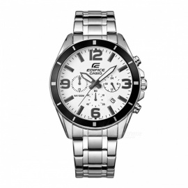 Casio Edifice EFR-553D-7B Stainless Steel 100m Men's Watch - Silver & White