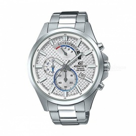 Casio Edifice EFV-530D-7A Standard Chronograph Watch - Silver & White