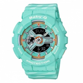Casio Baby-G BA-110CH-3A Chance Themed Standard Analog Digital Ladies Watch - Green