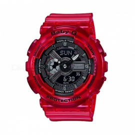 casio baby-g BA-110CR-4A Sonderfarben-Modelle analoge Digitaluhr - rot