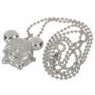 Cute Mickey Mouse Figure Style Stainless Steel Quartz Watch with Neck Chains (1*377)