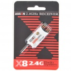 ASSAN X8R6M 2.4GHZ Micro 6-Channel Radio System Receiver