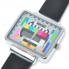 Fashion Television TV Test Pattern Wrist Watch - Black Band (1 x SR626)