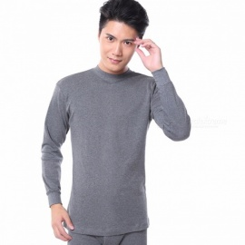Thermal Underwear Men Long Johns Set Cotton Winter Man Tight Pajama Set Tops Shirts Bottom Pants Lounge Sleepwear Gray/M