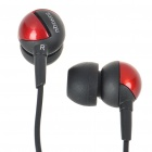 Noise Isolation In-Ear Stereo Earphone - Black + Red (3.5mm Jack/150CM-Cable)