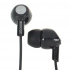 Noise Isolation In-Ear Stereo Earphone - Black (2.5mm Jack/150CM-Cable)