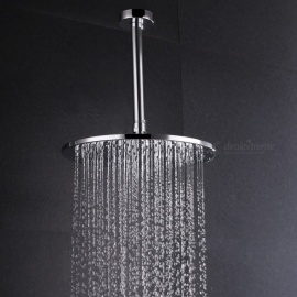 "8"" Contemporary Chrome Brass Rainfall Shower Head - Silver"