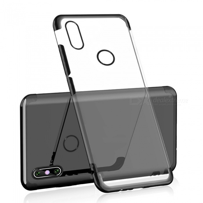 detailed look 9b477 ab1a2 Transparent Slim Electroplate Plating TPU Back Case for Xiaomi Mi A2 / 6X -  Black