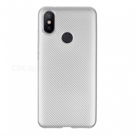 Ultra-slim TPU Carbon Fiber Matte Phone Case for Xiaomi A2 / 6X - Silver