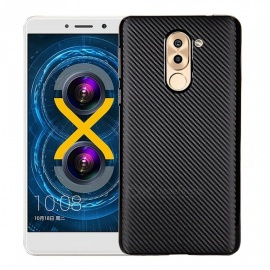 Ultra-slim Carbon Fiber Matte Phone Case for Huawei Honor 6X - Black