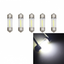 JRLED sj31mm 1W blanc froid COB LED lampe de lecture de voiture (DC12V / 5 PCS)