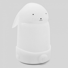 Cute Silicone Water Bottle Shape USB Bedroom Nightlight - White
