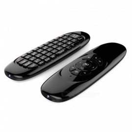 C120 contraluz fly air mouse inalámbrico juego teclado recargable 2.4ghz universal control remoto inteligente para android tv box PC