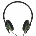 Stylish Stereo Headphones Headset Earphones - Army Green (3.5mm Jack/1.2m Cable)