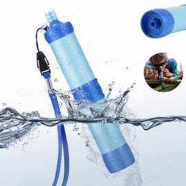 Portable ABS Plastic Water Filter Pressure Purifier Cleaner Outdoor Camping Hiking Wild Drinking Safety Emergency