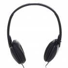 Stylish Stereo Headphones Headset Earphones - Black (3.5mm Jack/1.2m Cable)