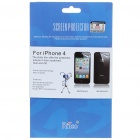 Protective Full Front and Backside Screen Guard + Cleaning Cloth Set for Iphone 4