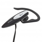 Trendy Single Ear-Hook Stereo Headset Earphone with Microphone - Black (Dual 3.5mm Jack/1.8M-Cable)