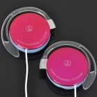 Trendy Dual Ear-Hook Stereo Headset Earphone - Deep Rose (3.5mm Jack/1M-Cable)
