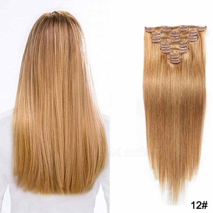 18inch 7pcs Clip In Hair Extensions Human Hair Extensions For Women
