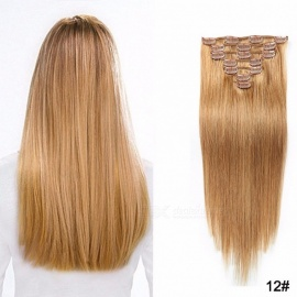 18inch 7PCS Clip In Hair Extensions Human Hair Extensions For Women #16/18 inches
