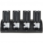 Charger Dock Stand + 4 x Battery Set for Nintendo Wii Remote Controller - Black