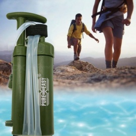 GJ047 Portable Water Purifiers Adventure Outdoor Equipment Man Water Purifier Filter Drink Straight Survival Equipment Army Green