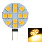 G4 2.2W 48-60 Lumen 12 x 5050 SMD LED Car Warm White Light Bulb (12V)