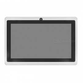 "7"" Wifi Ultra Slim Tablets Android 4.4 Quad Core 4GB Tablet Support TF Card White"