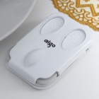 Genuine Aigo Ultra-Thin Dual-Wheel USB 2.0 Optical Mouse for Laptop/PC - White