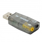 USB 3D Sound Adapter - Multicolored