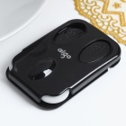 Genuine Aigo Ultra-Thin Dual-Wheel USB 2.0 Optical Mouse for Laptop/PC - Black