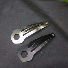 Multifunctional Pocket-Size Hair Pin Clip / Bobby Pin / Hairpin, Stainless Steel Mini EDC Survival Tool Silver
