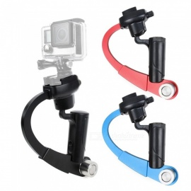 XSUNI mini håndholdt metall gimbal video stabilisator for gopro hero sports kamera - svart + rød