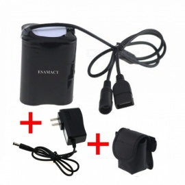 ESAMACT 2-in-1 porta USB e CC 20000 mah 8.4V pacco batteria Li-on 4x26650 con filettatura