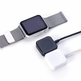 USB Charging Dock Cable for Apple Watch 1 / 2 / 3 38mm & 42mm - Black + White (2 PCS)