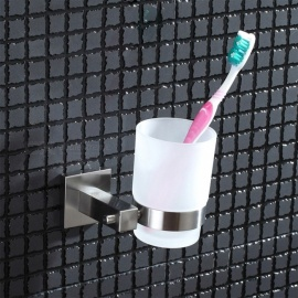 Wall Mounted 304 Stainless Steel Toothbrush Holder, Single Cup & Tumbler Holder