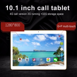 10,1 tommers bedriftstablet PC med 2 GB RAM, 32 GB ROM, Dual SIM Dual Standby, 4 G Call White