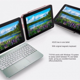 ASUS T101HA 10.1 pollici win10 tablet PC / notebook 2 in 1 con 2 GB di RAM, 32 GB di ROM nero