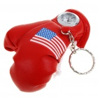 Cute Glove Style Quartz Watch with Keychain - Red (1 x 377)