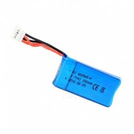 3.7V 350mAh 402545-P Lithium Polymer High Power Li-po Battery for Syma X8C X8W RC Quadcopter - Blue