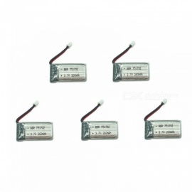 5Pcs 3.7V 260mAh H36 Lithium Polymer High Power Li-po Battery for Syma X8C X8W RC Quadcopter - Silver