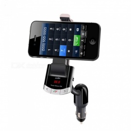 BT8118 Wireless Bluetooth FM Transmitter Radio Adapter, MP3 Music Player Car Kit with Phone Mount Holder, Hands-Free Call