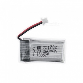3.7V 260mAh H20 Lithium Polymer High Power Li-po Battery for Syma X8C X8W RC Quadcopter - Silver