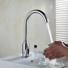 Automatic Sensor Tap Infrared Sensor Water Saving Faucet, Inductive Kitchen Bathroom Water Tap, Single Cold Water Tap
