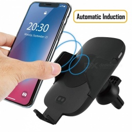 Measy C9 Wireless Car Charger Mount, Qi Wireless Fast Charger Stand, Automatic Open & Clamp Car Air Vent Phone Holder