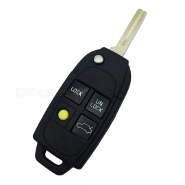 XSUNI Replacement 4-Button Remote Key Cover Shell Case for Volvo