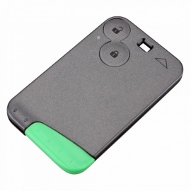 XSUNI Replacement 2-Button Remote Smart Card Key Shell Case for Renault