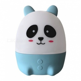 Cartoon Cute Bear Shape USB Mini 7-Color Changing Nightlight for Home - Blue